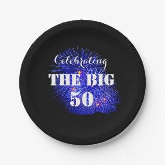 大きい50を祝います- ペーパープレート