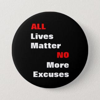"""大きい""""すべての生命問題""""の黒ボタン 7.6CM 丸型バッジ"""