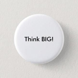 """""""大きい""""ボタンを考えて下さい 3.2CM 丸型バッジ"""