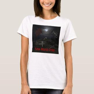 """大きいACOMAの""""新世界秩序""""のベビードールのワイシャツ Tシャツ"""