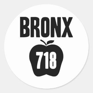 大きいApple及び718市外局番の切り出しが付いているブロンクス ラウンドシール