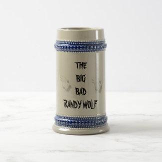 大きいBADRANDYのオオカミ ビールジョッキ