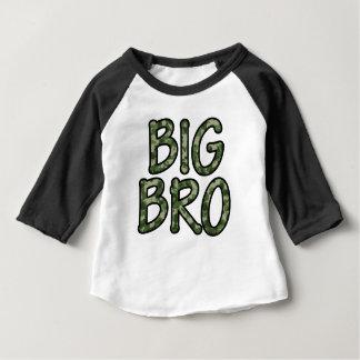 大きいBroのベビーのRaglanの迷彩柄 ベビーTシャツ
