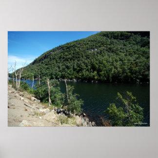 大きいfreshwater湖のAdirondacks。 プリント214 ポスター