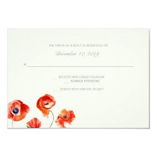 大きいRSVP |の水彩画の花- カード