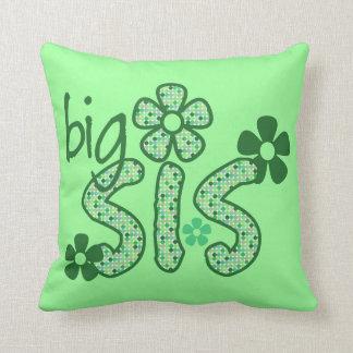 大きいSisの緑の花 クッション