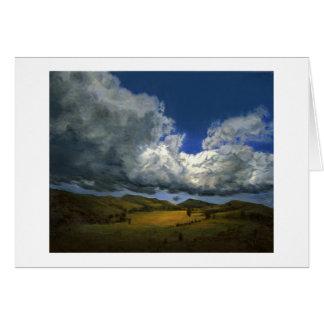大きくうねっている雲は挨拶状徐々に行きます カード