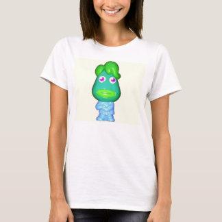 大きく小さいグリーンマンのエイリアン Tシャツ
