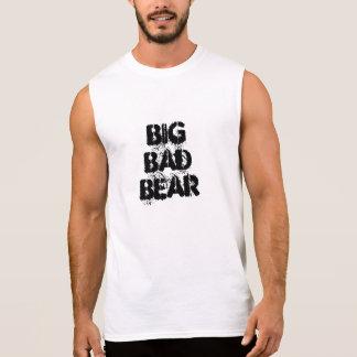 大きく悪いくまのグランジなフォント 袖なしシャツ