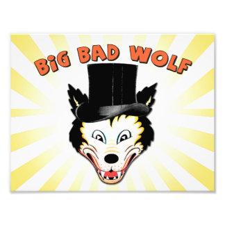 大きく悪いオオカミのキャラクターのプリント フォトプリント