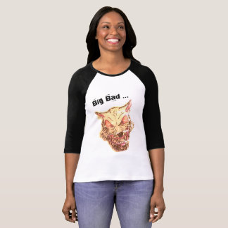 大きく悪いオオカミの女性のワイシャツ Tシャツ