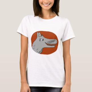 大きく悪いオオカミの漫画の物語の本の赤い乗馬フード Tシャツ