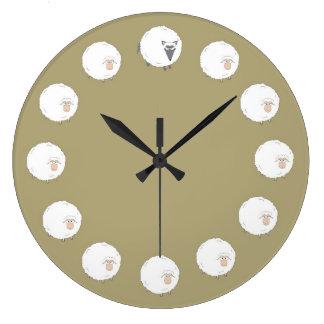 大きく悪いオオカミ ラージ壁時計
