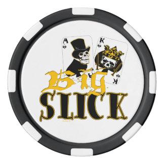 大きく滑らかなPokerchips カジノチップ