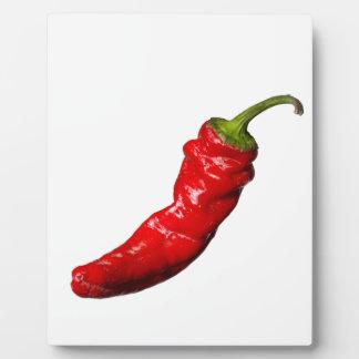 大きく熱い赤唐辛子 フォトプラーク