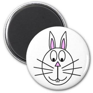 大きく白いウサギの漫画のスケッチ マグネット