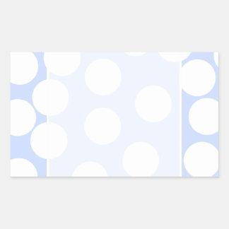 大きく白い点が付いているスカイブルー。 カスタム 長方形シール