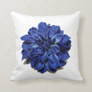 大きく美しく青い庭の花の枕 クッション