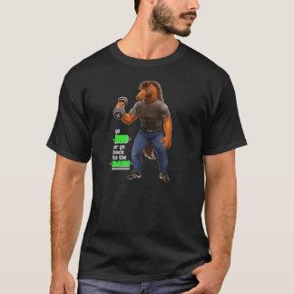 大きく行きますか、または納屋の黒のTシャツに戻って下さい Tシャツ