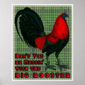 大きく赤いオンドリ ポスター
