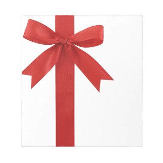 大きく赤いクリスマスの弓 ノートパッド