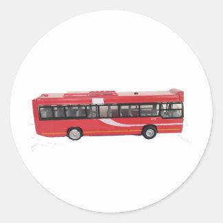 大きく赤いバス ラウンドシール