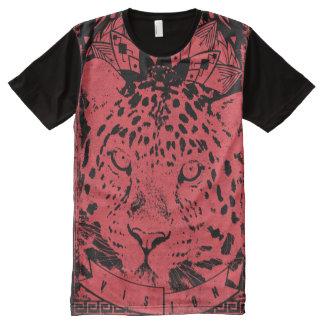 大きく赤いライオン オールオーバープリントT シャツ