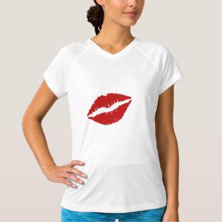 大きく赤い唇 Tシャツ