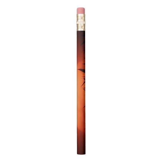 大きく赤い太陽 鉛筆