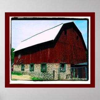 大きく赤い納屋ポスター ポスター