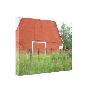 大きく赤い納屋 キャンバスプリント