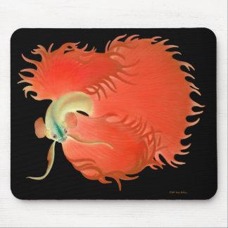 大きく赤いBettaの魚のマウスパッド マウスパッド
