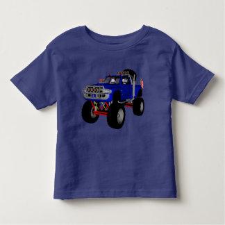 大きく青いトラック3の幼児の男の子のTシャツ トドラーTシャツ