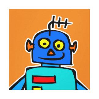 大きく青いロボットキャンバスのプリント キャンバスプリント