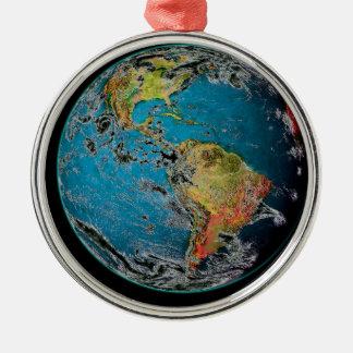 大きく青い大理石 -- 地球 メタルオーナメント