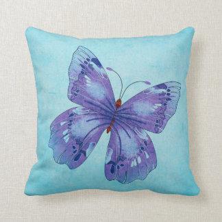 大きく青い蝶枕 クッション