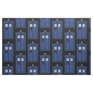 大きく青い警察箱の生地のCosplayの時間オタク ファブリック