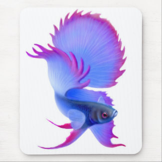 大きく青いBettaの魚のマウスパッド マウスパッド
