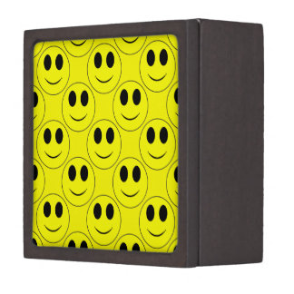 大きく黄色いスマイリーフェイスのすべて記念品箱 ギフトボックス