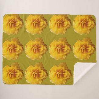 大きく黄色い毛布 シェルパブランケット