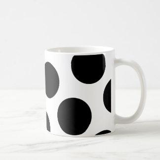 大きく黒い斜めの点 コーヒーマグカップ