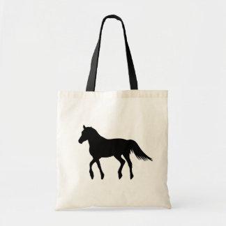 大きく黒く美しい馬 トートバッグ