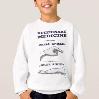 大きく、小さい動物の獣医のユーモアのある スウェットシャツ