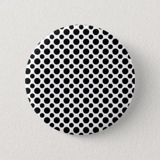 大きく、小さい白黒の水玉模様 5.7CM 丸型バッジ