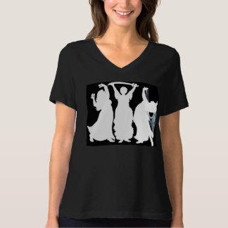 大きく、美しいBellydancersの暗闇のティー Tシャツ