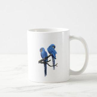 大きく、青いHyacinthのコンゴウインコ コーヒーマグカップ