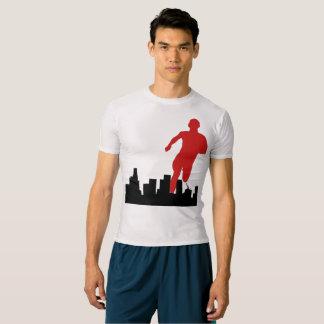 大きくLAのスカイラインの圧縮のTシャツは行きます Tシャツ