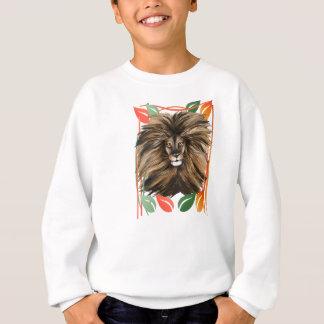 大きな猫およびカラフルのジャングル スウェットシャツ
