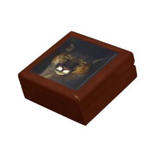 大きな猫のクーガーのオオヤマネコの芸術のデザイン ギフトボックス