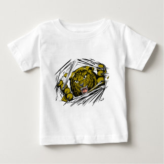 大きな猫の破裂 ベビーTシャツ